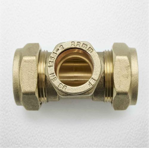 Brass Compression Reducing Tees 28Mm X 28Mm X 22Mm FTB1619 5055639129757