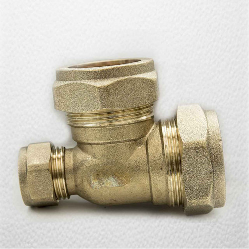 Ftd Brass Compression Reducing Tees 28Mm X 15Mm X 28Mm FTB1620 5055639129764