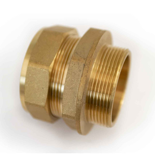 Ftd Straight Coupler Brass 54Mm Compression - 2 Inch Bspt Male Iron FTB1602 5055639129580