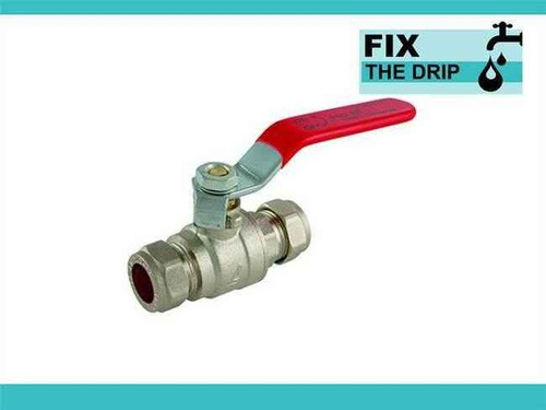 Ftd 54Mm Approved Compression Lever Ball Valve Red Full Bore FTB1598 5055639129542