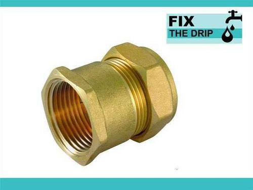 Ftd Straight Coupler Brass 42Mm Compression - 1 1/2 Inch Bspt Female Iron FTB1606 5055639129627