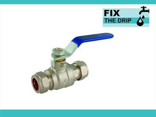 Ftd 54Mm Approved Compression Lever Ball Valve Blue Full Bore FTB1597 5055639129535