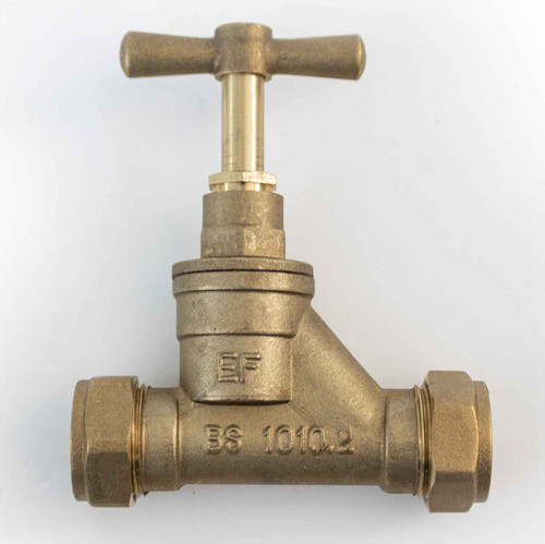 Ftd Brass Compression Stopcock Dzr 20Mm Mdpe X 20Mm Mdpe Bs1010 Poly FTB1589 5055639129450