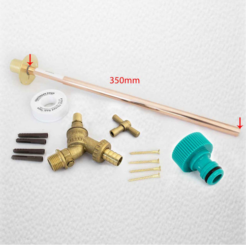 Anti Vandle Outside Garden Tap Kit With Through Wall Flange, Eco Friendly Dcv FTB1469 5055639198548