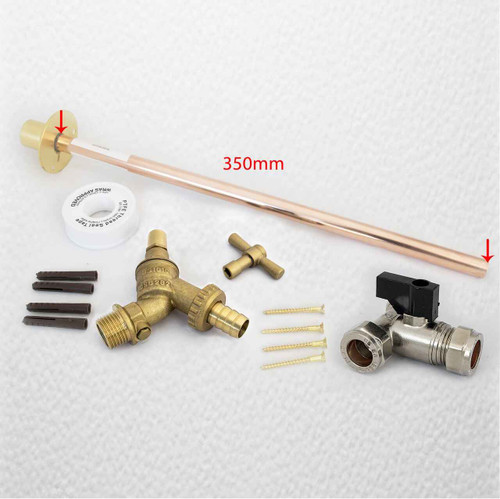 Outside Tap Kit Vandle Proof Diy Professional 350 Mm Through The Wall Ftb1517 FTB1517 5055639198555
