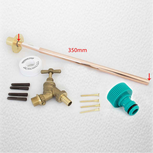 Outside Garden Tap Kit With Through Wall Flange, Eco Friendly Dcv And FTB1459 5055639198579