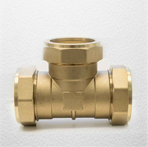 Ftd 54Mm Brass Equal Compression Tee Fitting FTB1478 5055639128705