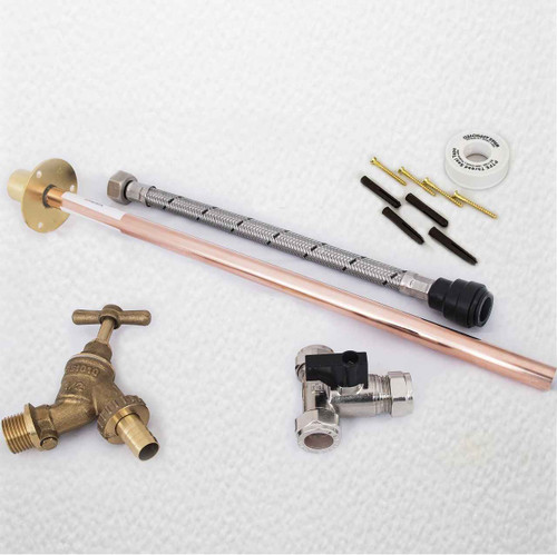 Outside Garden Tap Kit Comes With Through Wall Mounting Flange Nd Accessories FTB1194 5055639198678