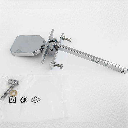 Chrome Universal Toilet Cistern Side Lever Handle Luxury Paddle Flush Metal Wc FTB1870 5055639130050