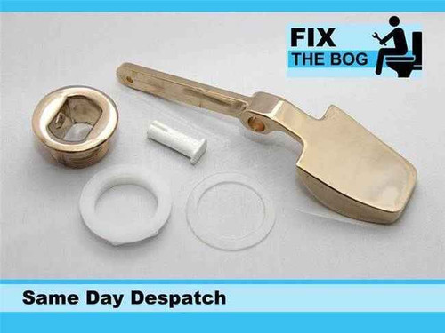 Toilet Side Lever Side Lever Handle Luxury Paddle Flush Wc Gold On Metal FTB1649 5055639129849