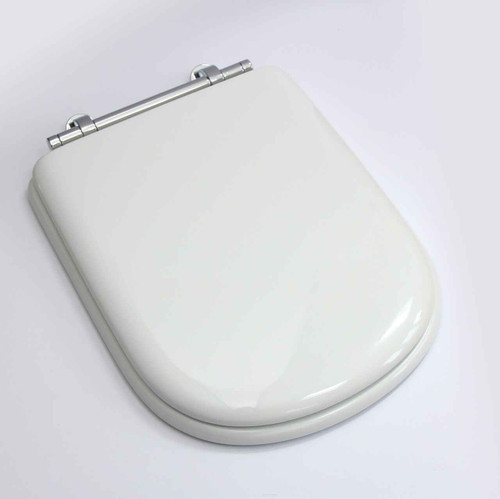 Sottini Reprise Toilet Seat And Cover In Old English White With Chrome Hinges FTB1145 5055639126312