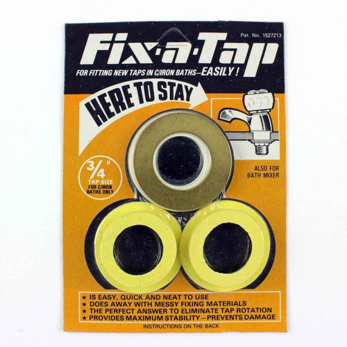 Essex Yellow Fix A Tap Fittings Kit 3/4 Inch Taps Cast Iron Bath For Stability FTB588 5055639198838