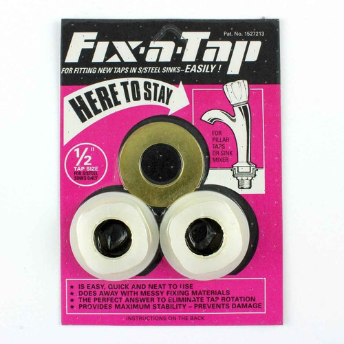Essex Pink Fix A Tap Fittings Kit For 1/2 Inch Taps In Stainless Steel Sink FTB587 5055639198845
