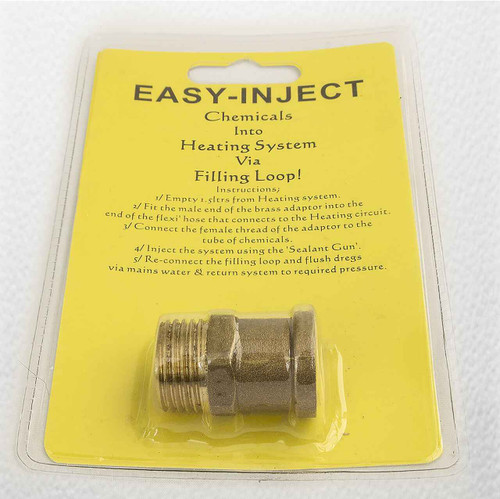 Easy Inject Adaptor Brass Chemicals Via The Filling Loop FTB784 5055639124066