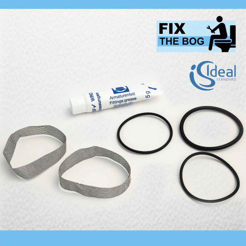 A961698Nu Ideal Standard Idealux Escutcheon O Ring X 2 Hot Cold Filter Set FTB995 5055639123281