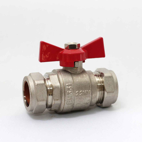 22Mm Butterfly Ball Valve Red Hot Wras Approved FTB791 5055639124004