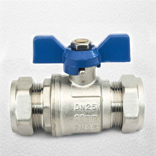 28 Mm Butterfly Ball Valve Blue Cold Wras Approved FTB795 5055639124042