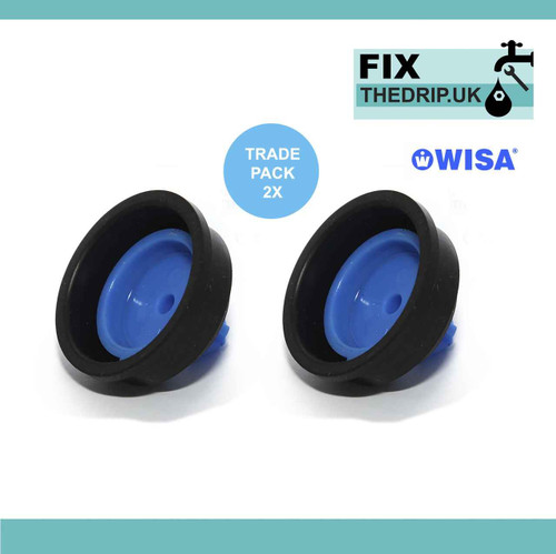 2 X Wisa Sphinx Side Entry Cistern Ball Valve Diaphragm Washer Replacement FTB328 5055639123786