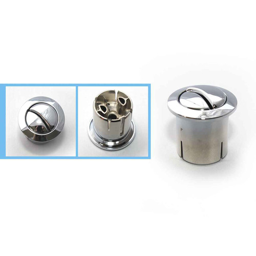 Roca Old Style Dual Flush Push Button D1D Chrome Giralda Dama Senso FTB589 5055639122895