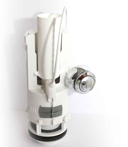 Siamp Optima 50 Dual Flush 1 1/2 Inch Outlet 475Mm Cable Plus Chrome Button FTB078 5055639106079
