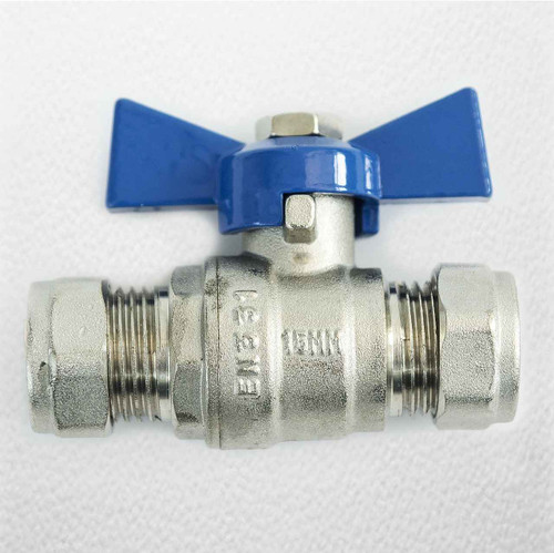 15Mm Butterfly Ball Valve Blue Cold Wras Approved FTB793 5055639124028