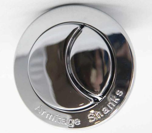 Armitage Shanks Crescent Dual Flush Push Button Chrome S4496AA Branded Button FTB957 5017830333920