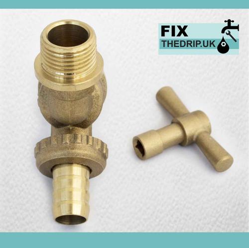 Lockshield 1/2 Hose Union Bib Tap Outside Garden Tap Secure Against Water Loss FTB785 5055639199057