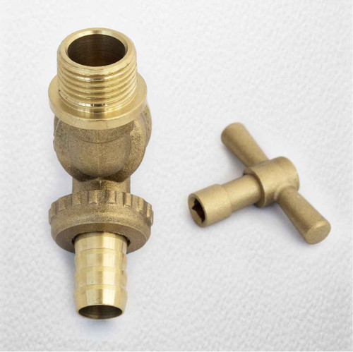 Lockshield 1/2 Hose Union Bib Tap Outside Garden Tap Secure Against Water Loss FTB785 5055639199057