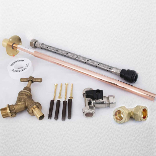 Professional Thru Wall Outside Garden Tap Kit Meets Water Regulations Gt3 Diy FTB296 5055639199095