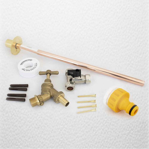 Professional Thru Wall Outside Garden Tap Kit Hozelock Water Regs Gt8 FTB301 5055639199101