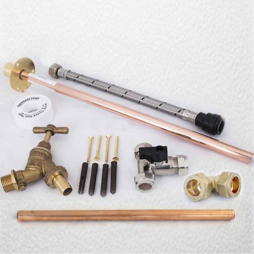 Professional Thru Wall Outside Garden Tap Kit Meets Water Regulations Gt5 Diy FTB298 5055639199118