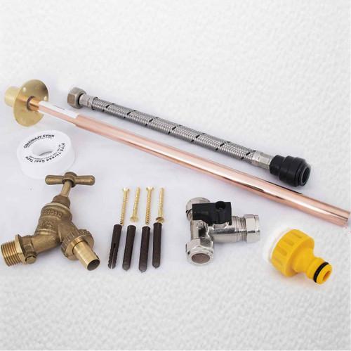Professional Thru Wall Outside Garden Tap Kit Hozelock Water Regs Gt2 FTB295 5055639199125