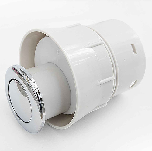 Macdee Kara 50Mm Pneumatic Macdee Syg609Cp Single Flush Valve Push Button FTB388 5055639100091