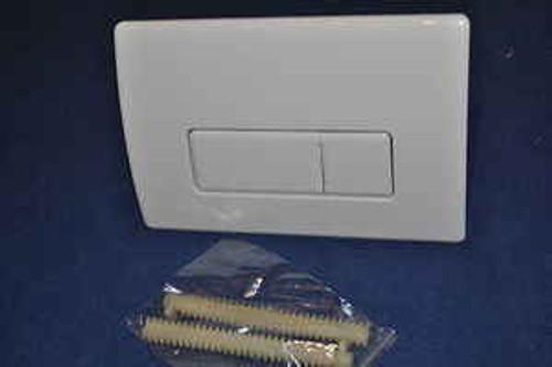 Macdee Pneumatic Dual Flush Push Plate Syg612Wh Caspia White Kayla FTB647 5055639100190