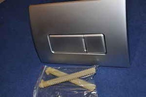 Macdee Pneumatic Dual Flush Push Plate Syg612Mf Caspia Matt Steel Kayla FTB648 5055639100206
