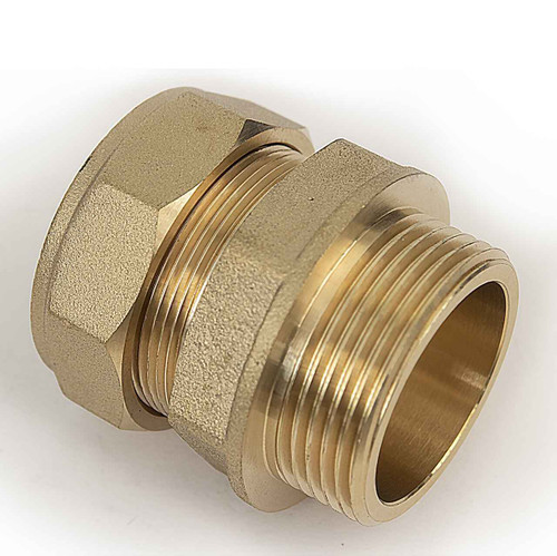 Ftd Straight Coupler Brass 35Mm Compression - 1 1/4 Insh Bspt Male Iron FTB1601 5055639129573
