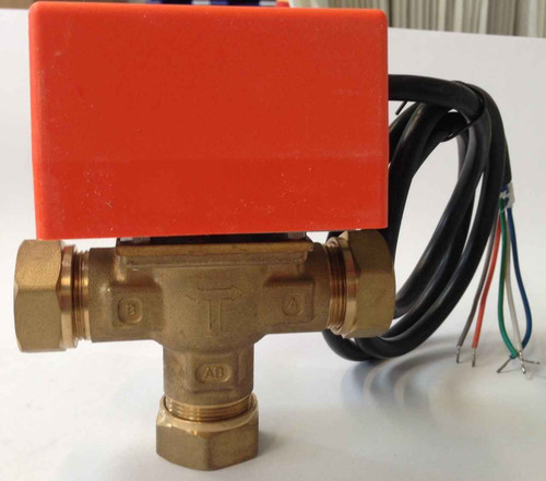 3 Port Solar 22Mm Motorised Zone Valve Actuator Solar Thermal Systems FTB2436 5055639199477