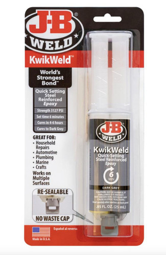 J-B Kwik Weld Quick Setting Steel Reinforced Epoxy 50176UK Repairs Metal Wood Ceramic Plumbing PVC Fibreglass Craft FTB2466 043425700179