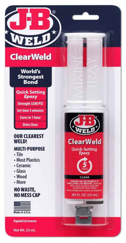 J-B Clear Weld Quick Setting Epoxy FTB2467 43425501127