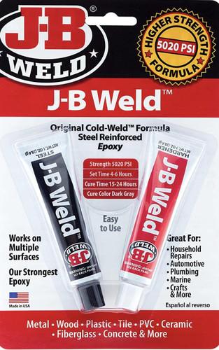 JB Weld Epoxy Adhesive For Plumbing Original Cold Weld Formula Steel Reinforced Plumbing Glue 8265 FTB2413 5055639199927