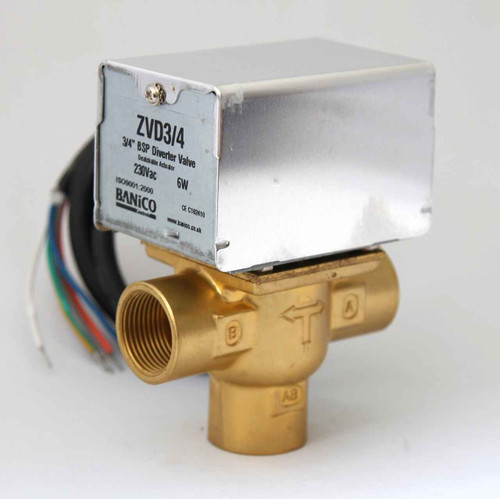 MOTORISED Diverter Priority VALVE ACTUATOR 3 PORT 3/4 BSP Female can replace Honeywell V4043C FTB2790 5055639196285