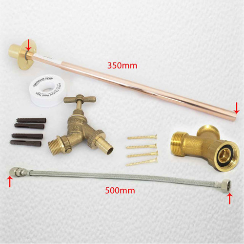 Easy Fit Outdoor GardenTap Kit Use Washing Machine Connection Brass Y piece included FTB2867 5055639196094