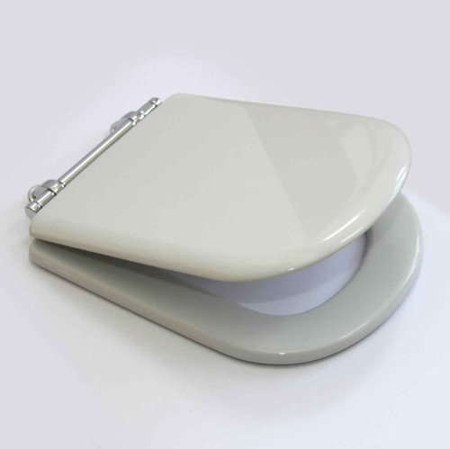 Ideal SOTTINI REPRISE Toilet Seat and Cover WHITE Chrome hinges full fitting kit FTB2651 5055639195813