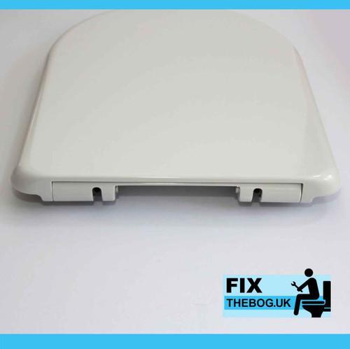 FixtheBog White Soft Close Luxury DuraPlas WC Toilet Seat DShape Top or Bottom Fix Chrome Hinges Heavy Duty DuraPlas FTB2803 5055639196179