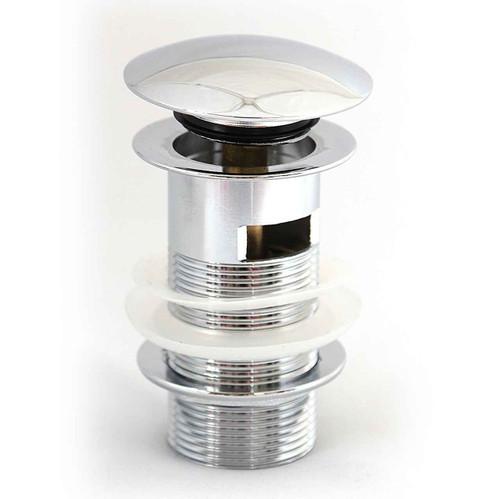 Basin Waste Slotted Brass Body, Mushroom Clicker Spring Plug FTB2455 5055639195721