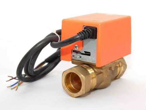 2 Port SOLAR 1 BSP Comp Irish Pipe Motorised Zone Valve Actuator SOLAR THERMAL SYSTEMS FTB2793 5055639195547
