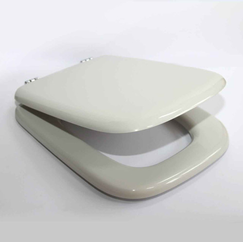 Replica IDEAL STANDARD WHITE MICHELANGELO Toilet Seat and Cover with Chrome Hinges FTB2955 5055639195387