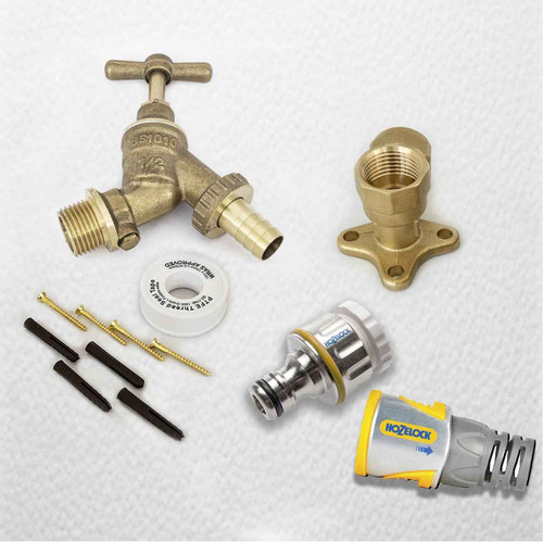 Professional HozeLock Outside Garden Tap kit Water Regs GT11PRO FTB4076 5055639195264