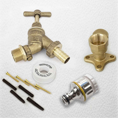 Professional HozeLock Outside Garden Tap kit  Water Regs GT12PRO FTB4079 5055639195233