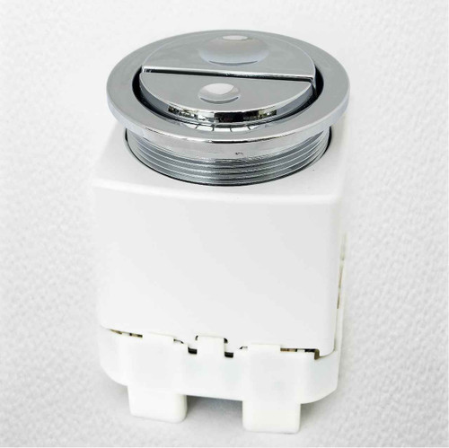 Geberit 241.413.21.1 Pneumatic Dual Flush Chrome Toilet Push Button For AP109 Cisterns FTB2476 4025416100959
